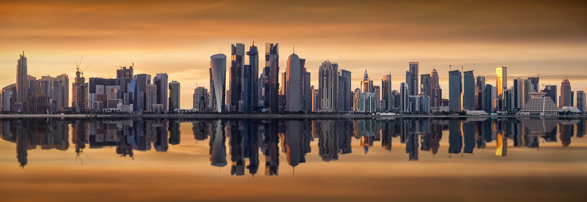 Qatar Skyline Amana Qatar Contracting